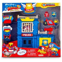 SuperZings - Estación de Policía con 2 Exclusivas Figuras y 1 Moto