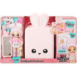 Na! Na! Na! Surprise 3 en 1 Mochila Dormitorio Pink Bunny con Muñeca Aubrey